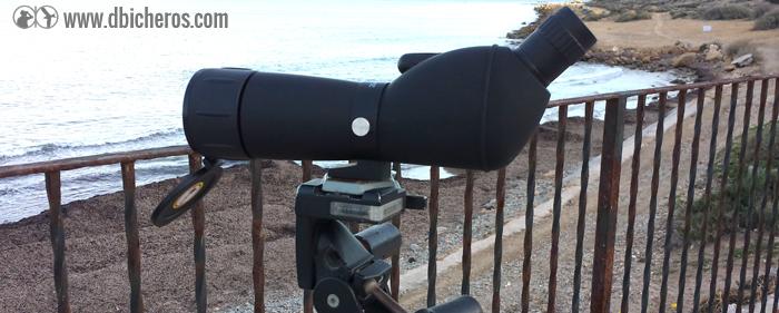 El telescopio preparado para la prueba