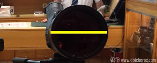 Abertura de un telescopio de 80mm